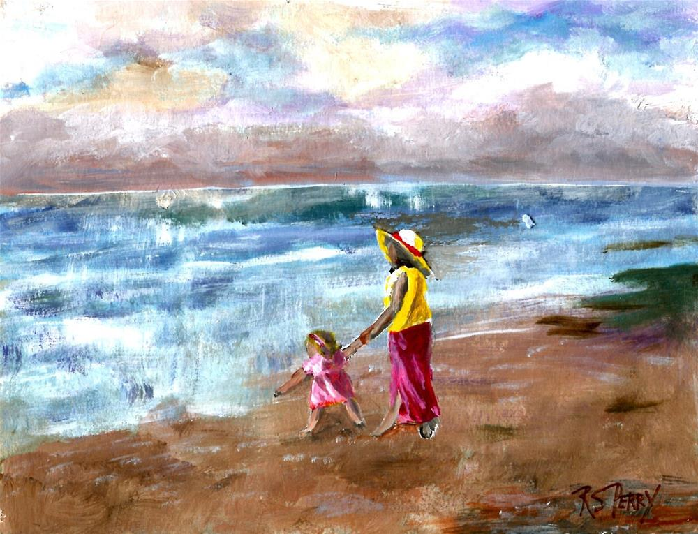 """Love for the Sea  "" original fine art by R. S. Perry"