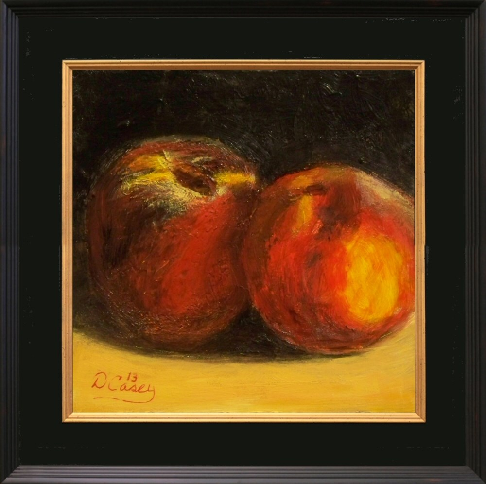 """A Pair of Peaches"" original fine art by Dave Casey"