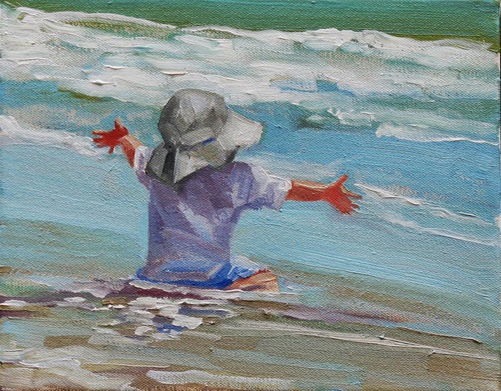 """happy happy, joy joy"" original fine art by Carol Carmichael"