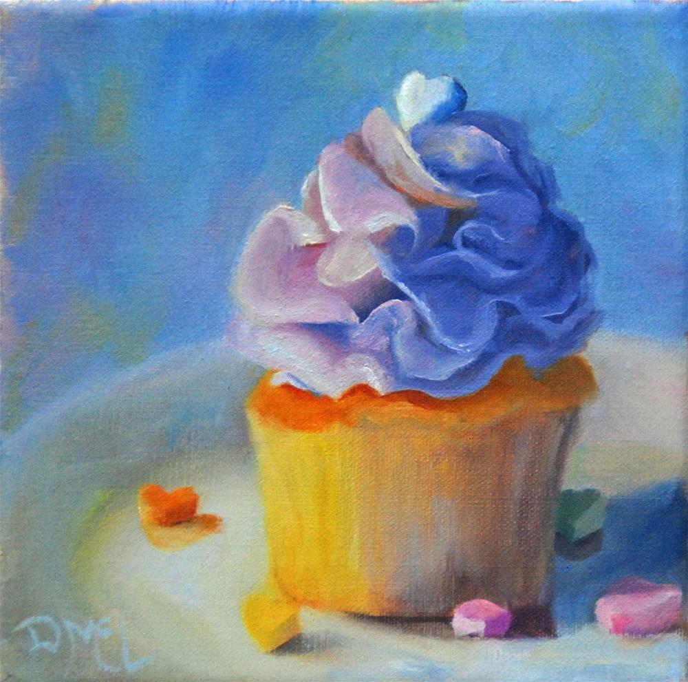 """Cupcake for Sale"" original fine art by Dorothy McLennan"