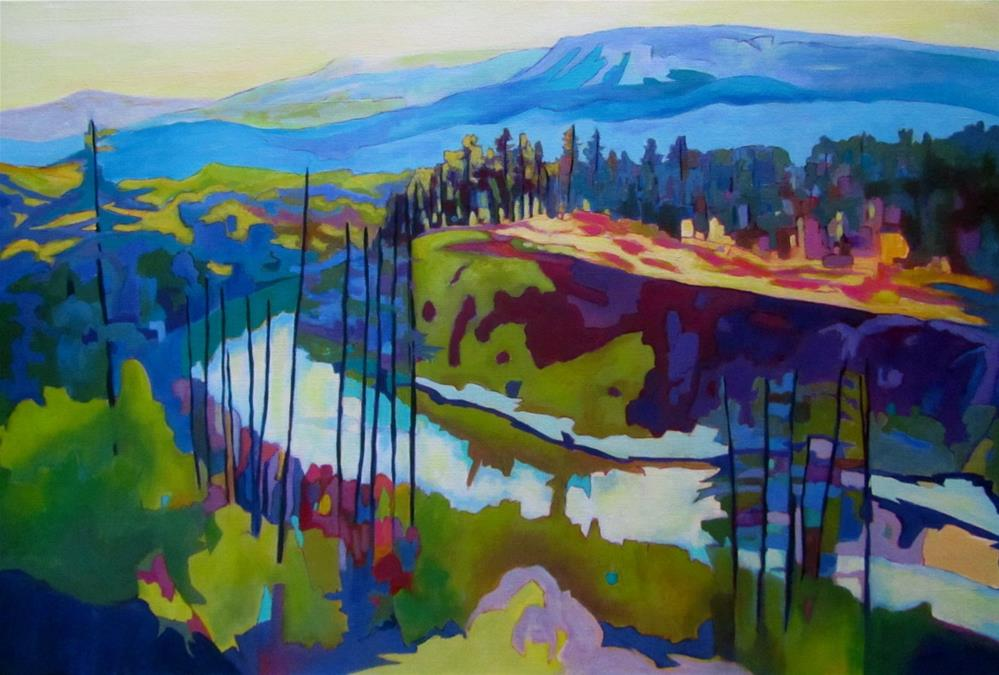 """North Thompson River, Looking South"" original fine art by Patricia MacDonald"