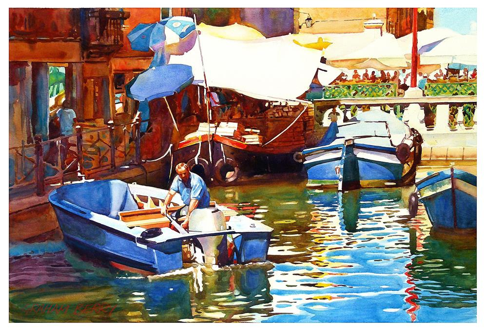 """Parking in Venice."" original fine art by Graham Berry"