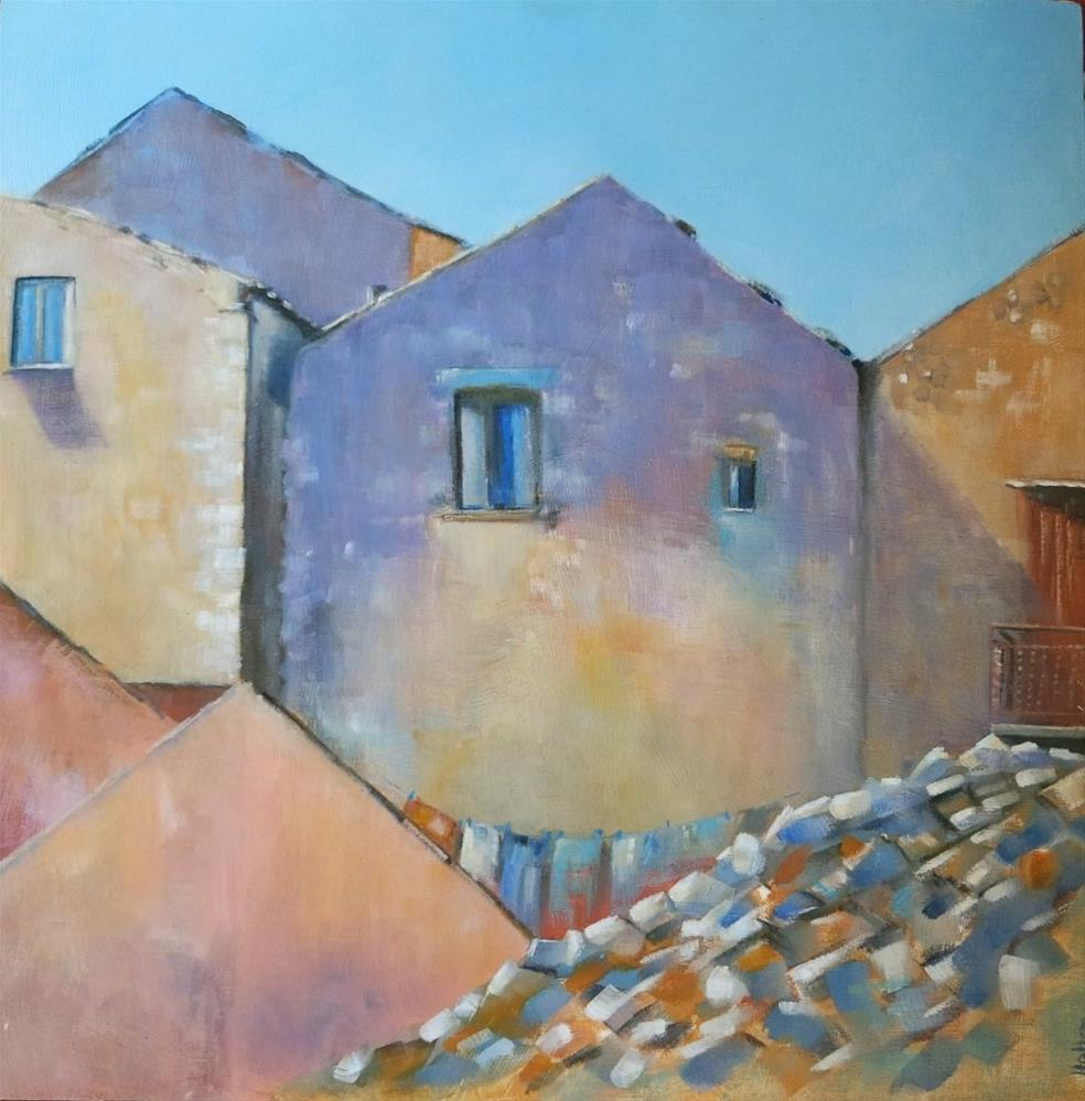 """""""Back of Houses"""" original fine art by Cathy Holtom"""