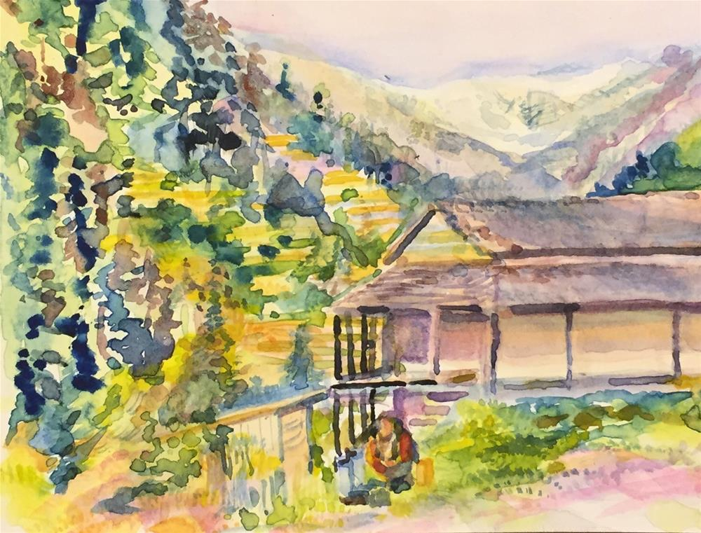 """Himalayas, Himachel Province, India"" original fine art by Jean Krueger"
