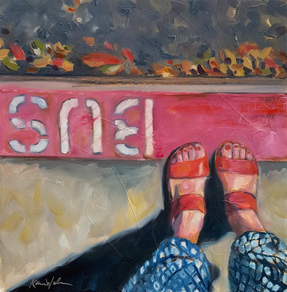 """""""And She Was"""" original fine art by Karen Weber"""