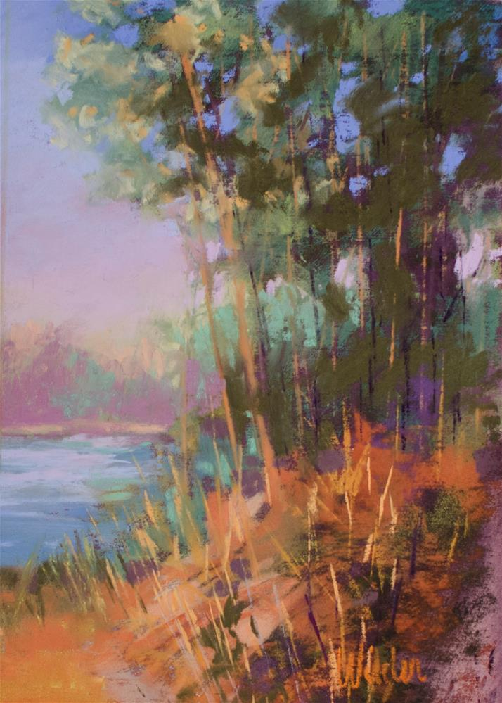 """Waters Edge"" original fine art by Judy Wilder Dalton"