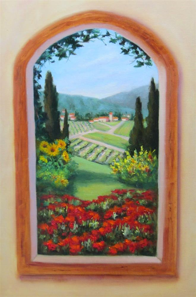 """View to Tuscany"" original fine art by Pat Fiorello"