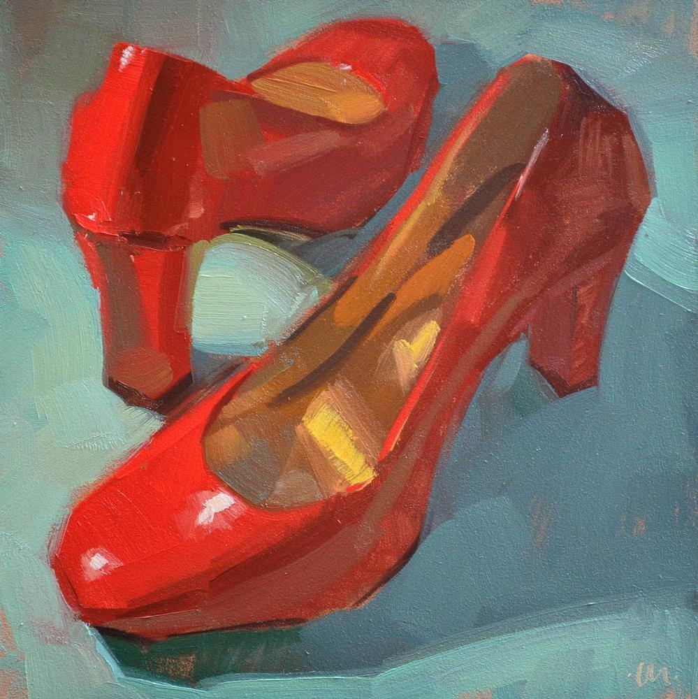 """Work Shoes"" original fine art by Carol Marine"