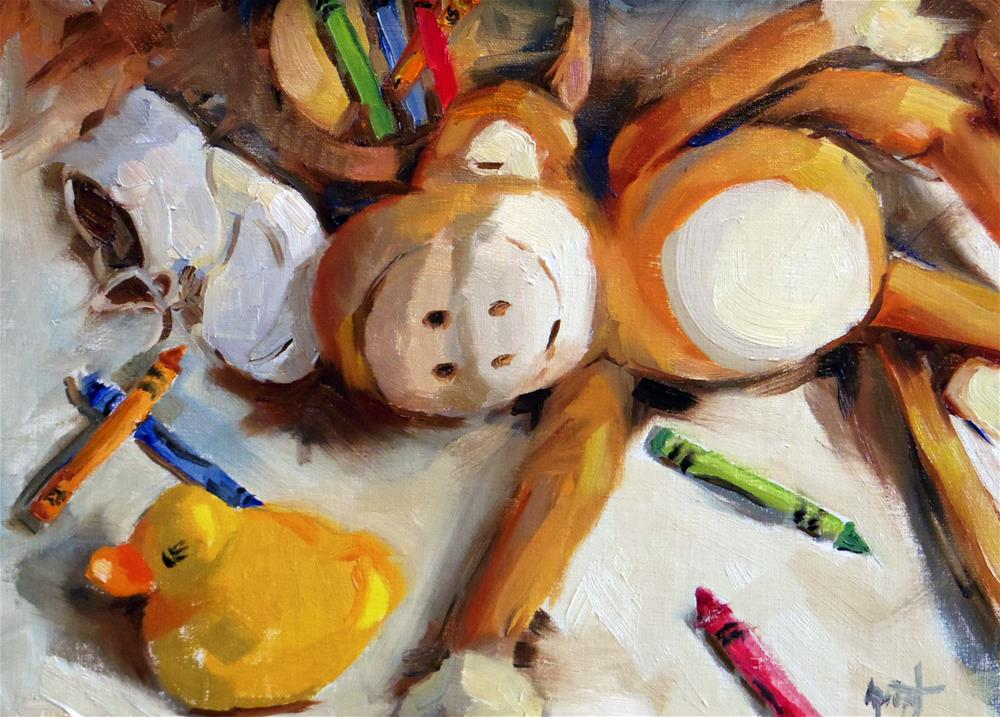 """""""It's Exhausting!"""" original fine art by Anne Marie Propst"""