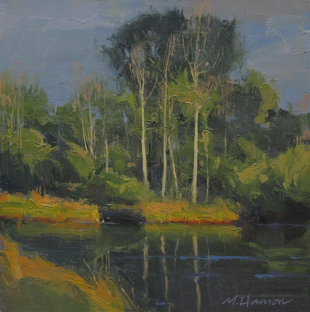 """Afternoon Aspens"" original fine art by Marc Hanson"
