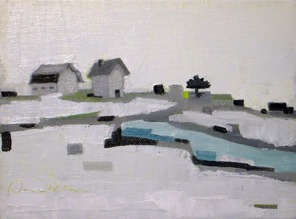 """Farmhouse Solace II"" original fine art by Donna Walker"