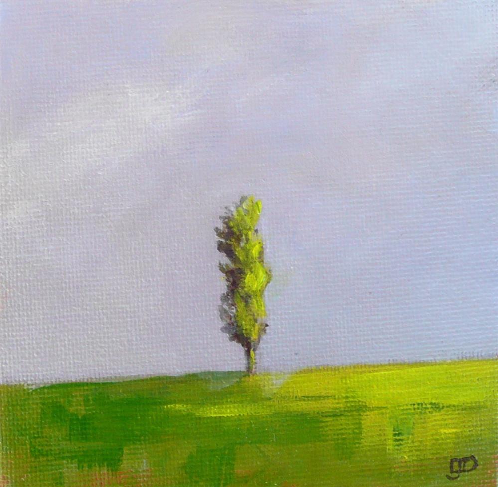 """""""Poplar On The Hill"""" original fine art by Leanne Owen"""
