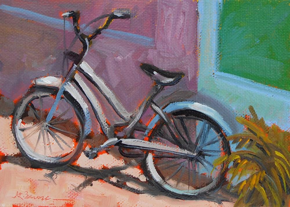 """""""Girl's Bike"""" original fine art by Jeanne Bruneau"""
