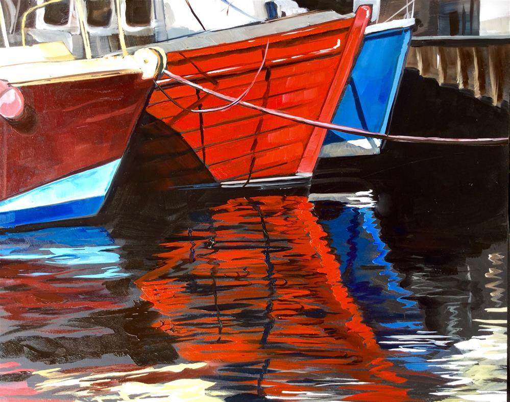 """""""Go Fish"""" original fine art by Lauren Kuhn"""