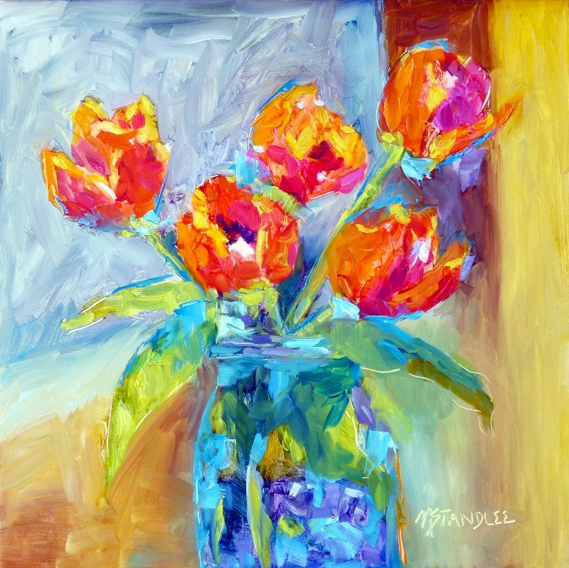 """Texas Tulips 13050"" original fine art by Nancy Standlee"