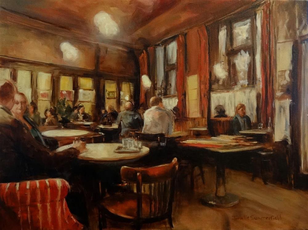 """""""Cafe Hawelka IV"""" original fine art by Jonelle Summerfield"""