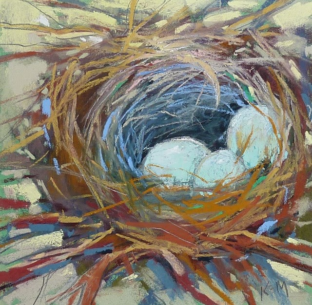 """Bird Nest Painting Demo"" original fine art by Karen Margulis"