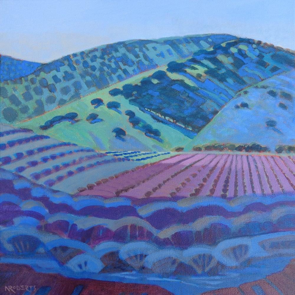"""""""Round Valley Vineyard"""" original fine art by Nancy Roberts"""