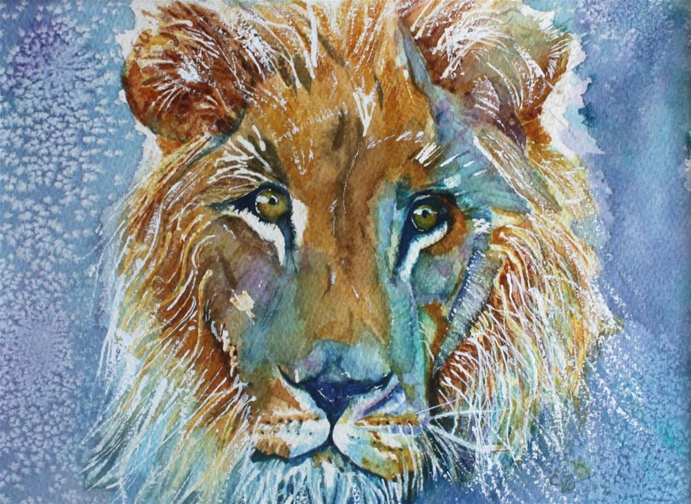 """His Majesty"" original fine art by Christiane Kingsley"