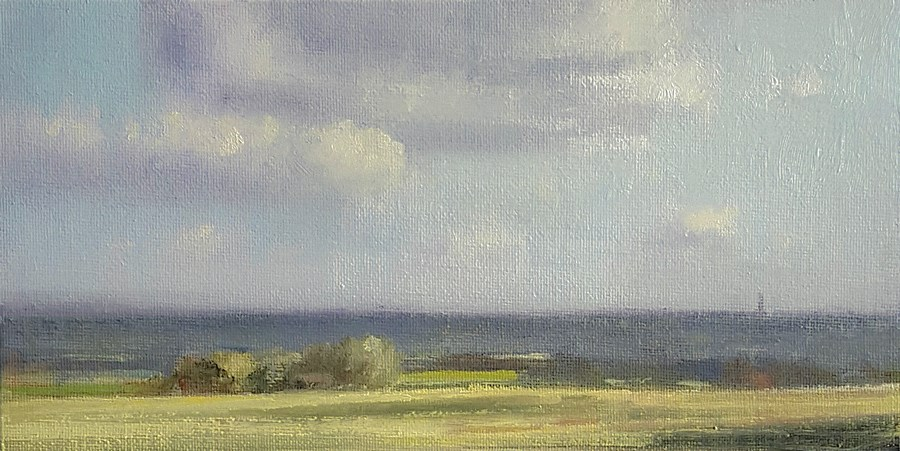 """Late Afternoon, Chilterns"" original fine art by Neil Carroll"