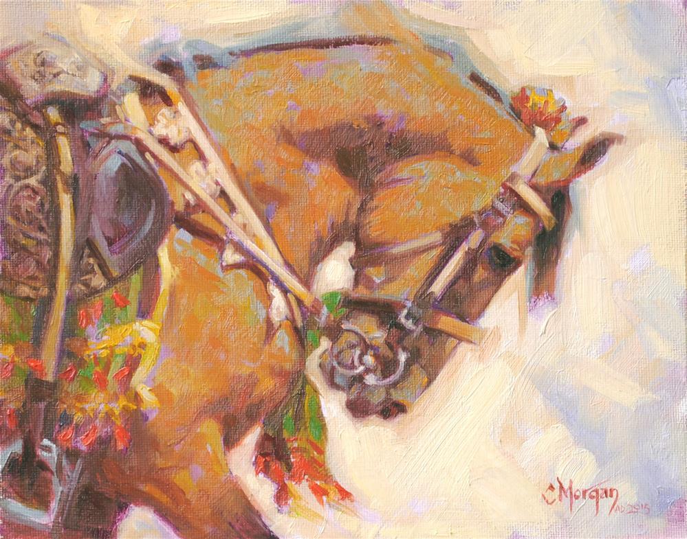 """""""Marwari 'Dancing Horse' of Pakistan"""" original fine art by Cecile W. Morgan"""