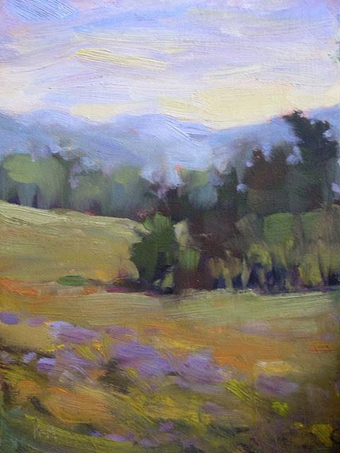 """Spring Meadows"" original fine art by Karen Margulis"