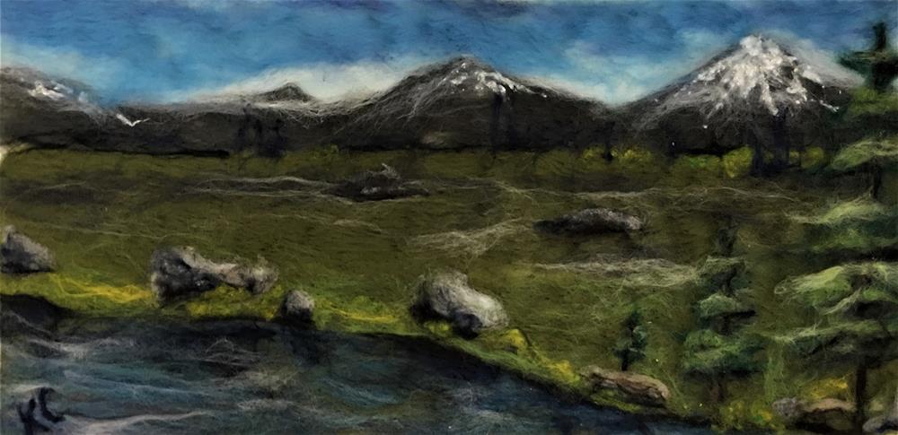 """River and Mountains"" original fine art by Kyla Corbett"