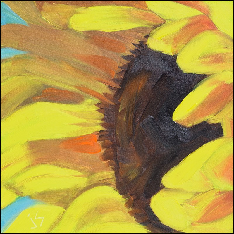 """Sunflower Challenge  Updated"" original fine art by Johnna Schelling"