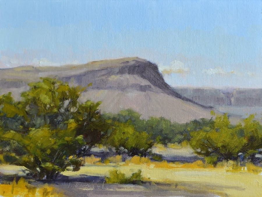 """Desert Morning - Big Bend, Texas"" original fine art by Laurel Daniel"