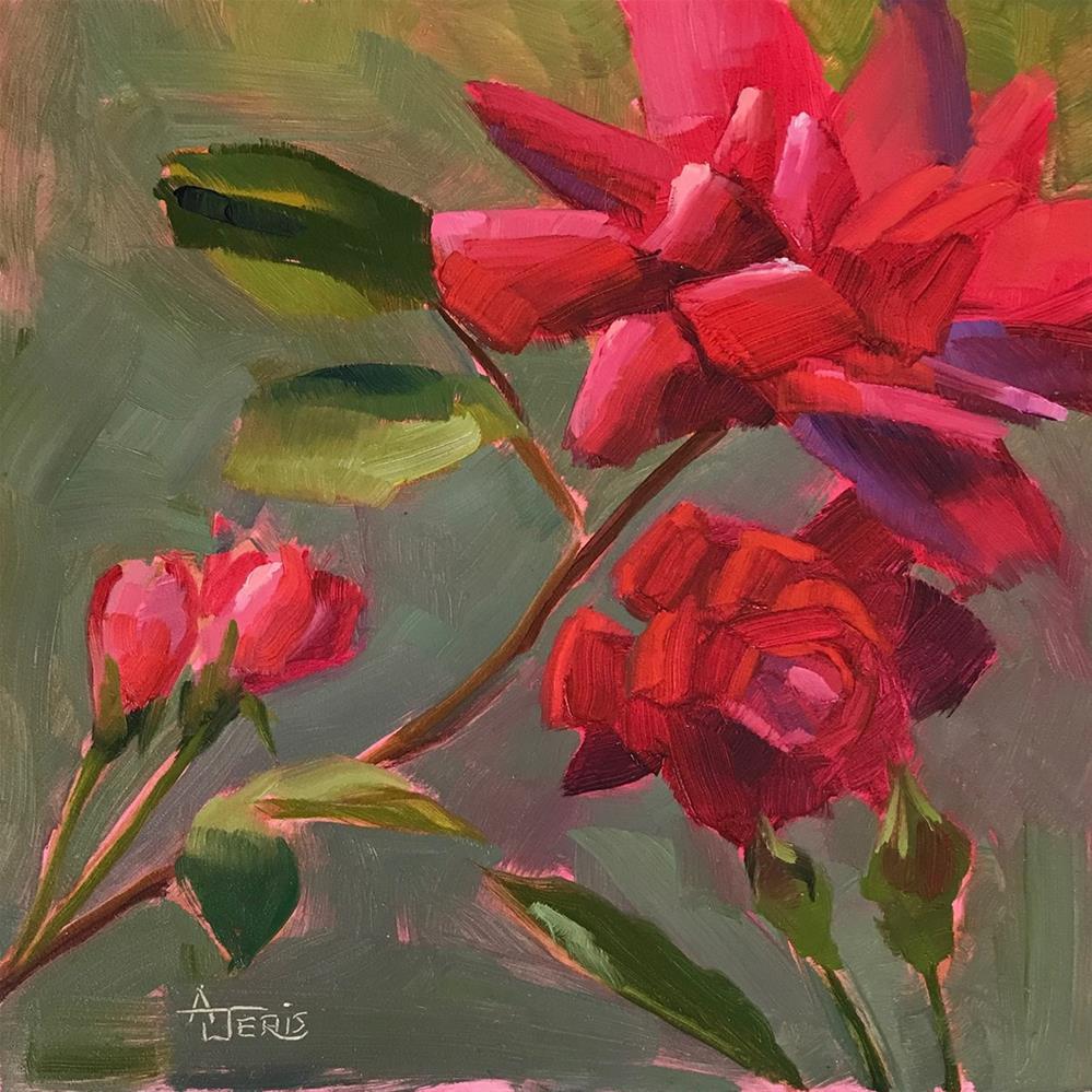 """In the Rose Garden"" original fine art by Andrea Jeris"