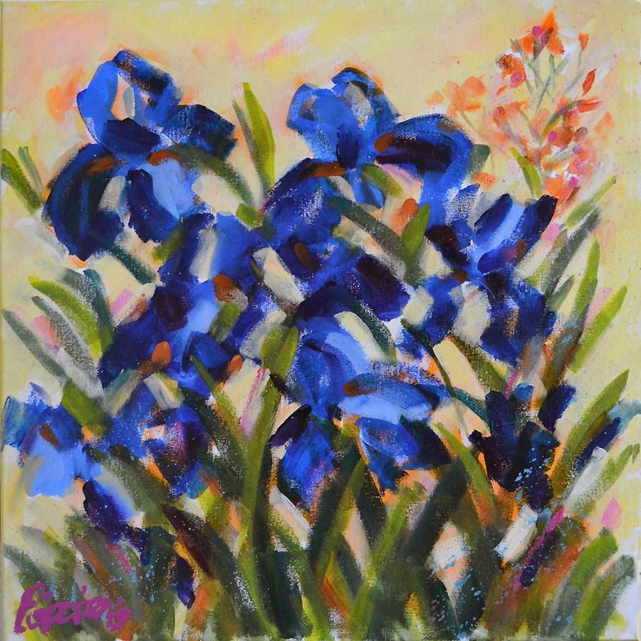 """""""Summer Blues"""" original fine art by Pamela Gatens"""