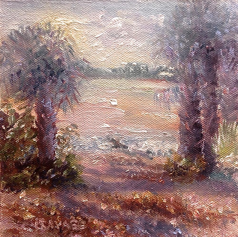 """Bunche Beach Early Morn"" original fine art by Judy Usavage"