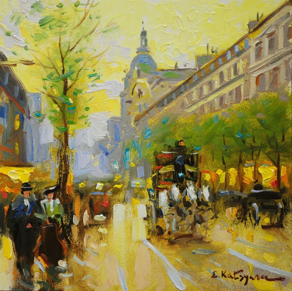 """Spring Boulevard"" original fine art by Elena Katsyura"