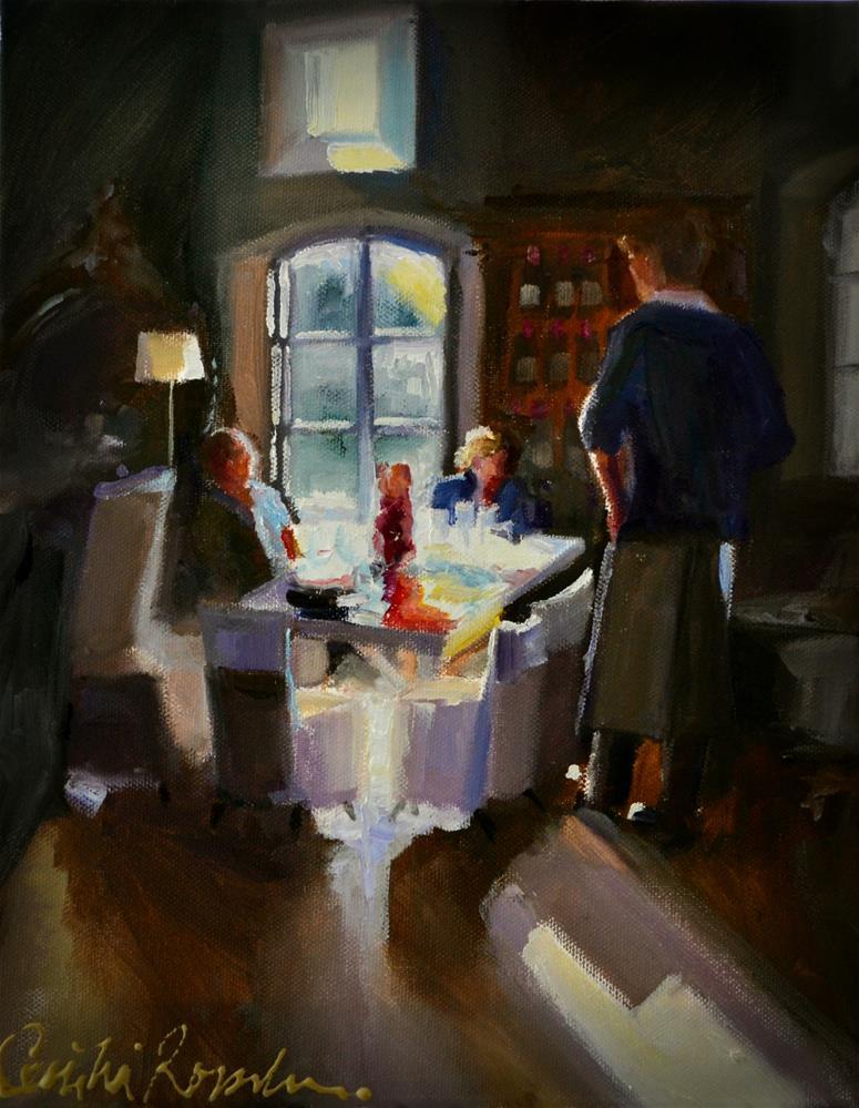 """WATERFORD WINE TASTING"" original fine art by Cecilia Rosslee"