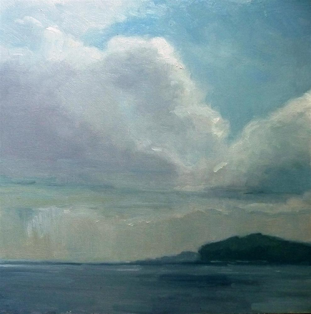 """Rain in the Distance"" original fine art by Lisa Kyle"