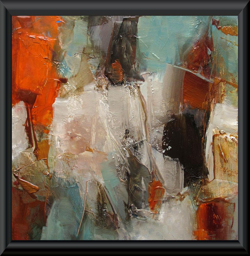 """ORIGINAL ABSTRACT ART 6 x 6 Painting OIL TWIST AND SHOUT"" original fine art by Colette Davis"