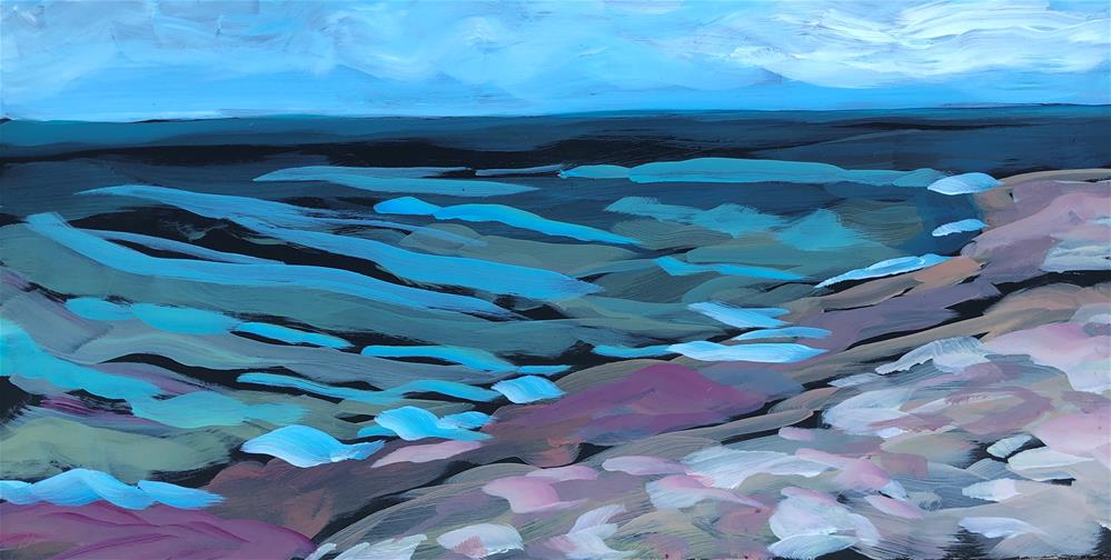 """June on Paradise Beach"" original fine art by Kat Corrigan"