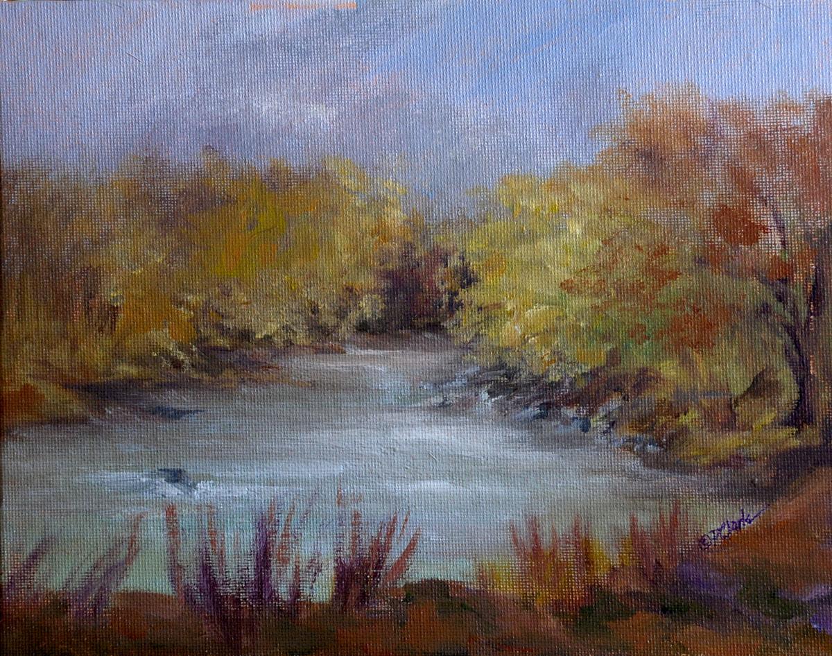 """""""Singing Waters"""" original fine art by Donna Pierce-Clark"""