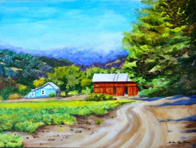 """Trail to Hoey Barn"" original fine art by JoAnne Perez Robinson"
