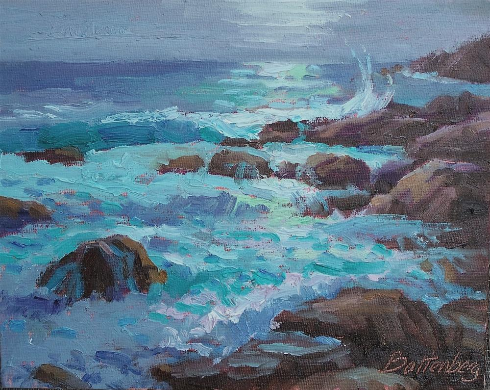 """Moonlit Reflections"" original fine art by Mike Battenberg"