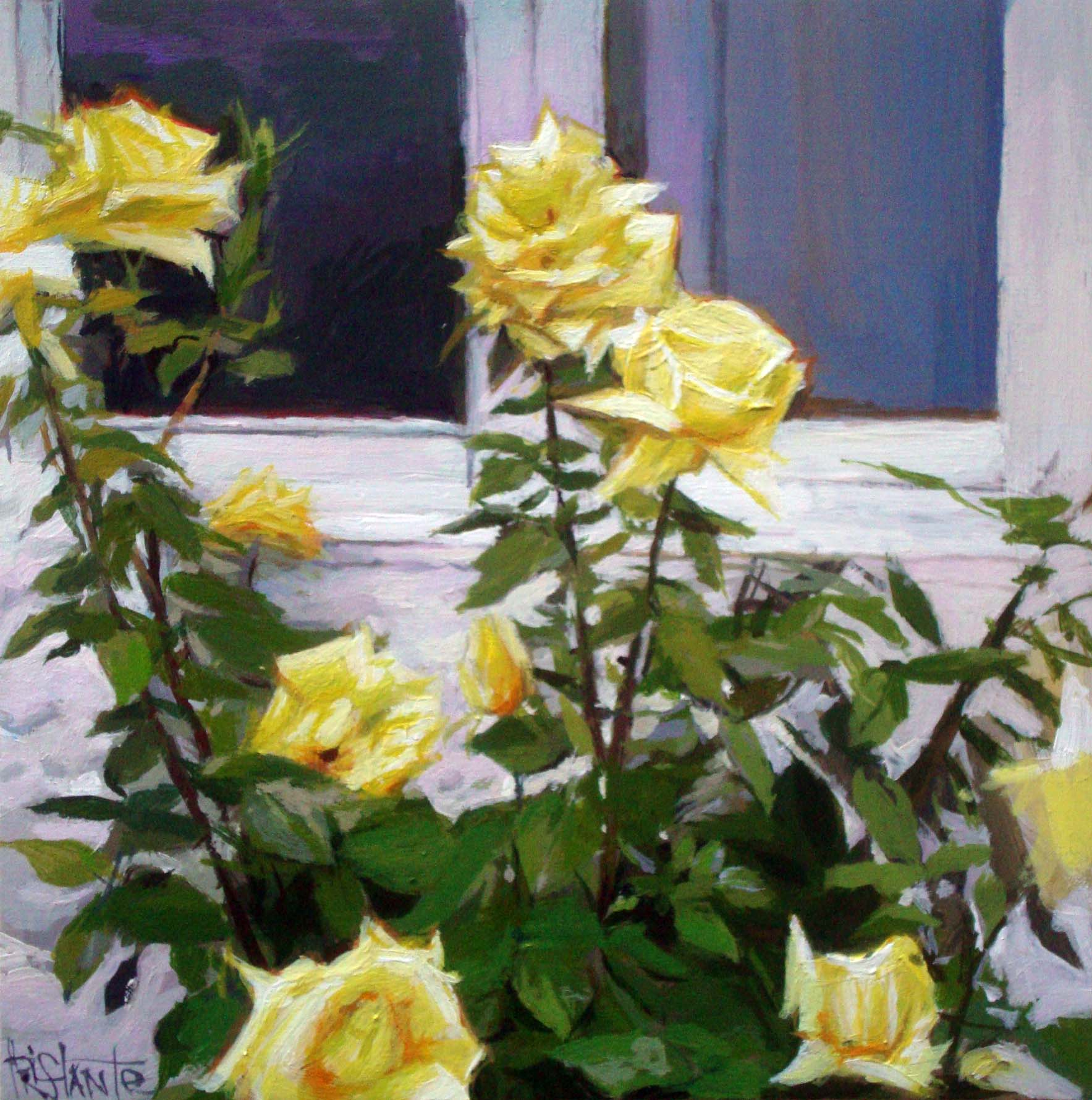 """Yellow Roses"" original fine art by Víctor Tristante"