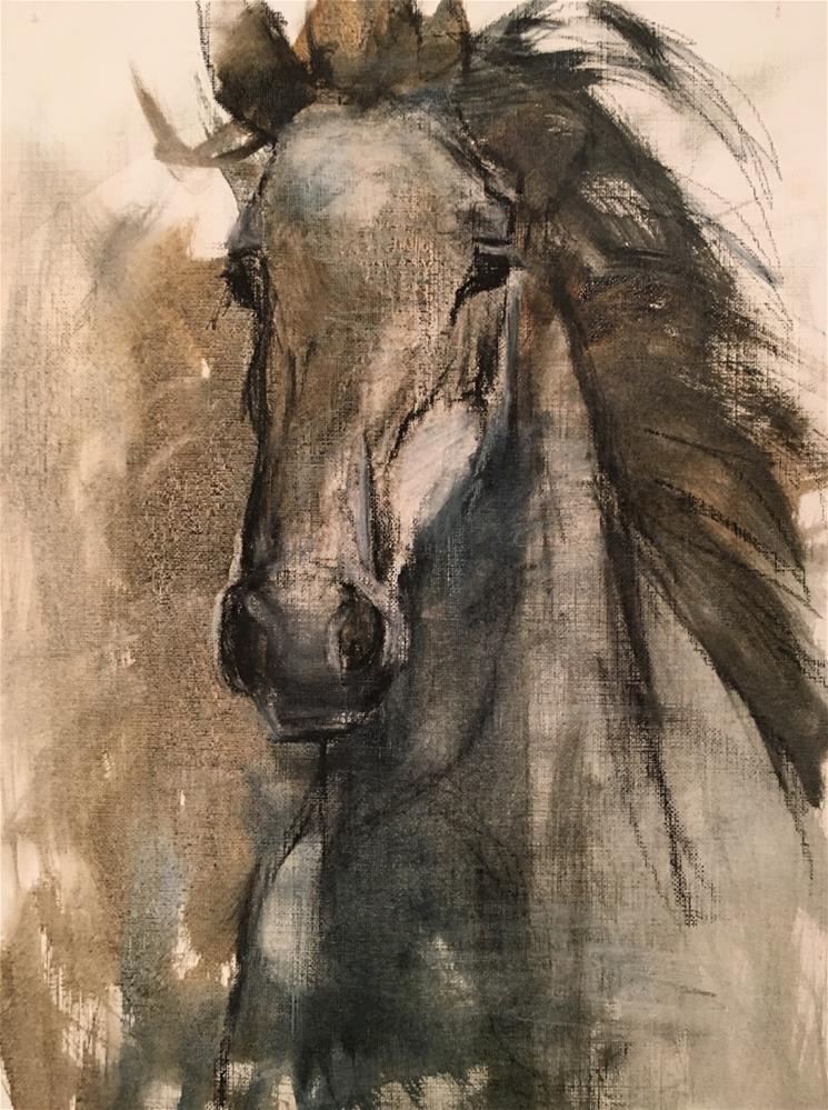 """His Majesty"" original fine art by Charlotte Cox"