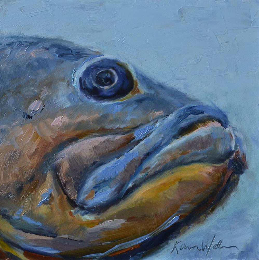 """""""The Fish Head"""" original fine art by Karen Weber"""