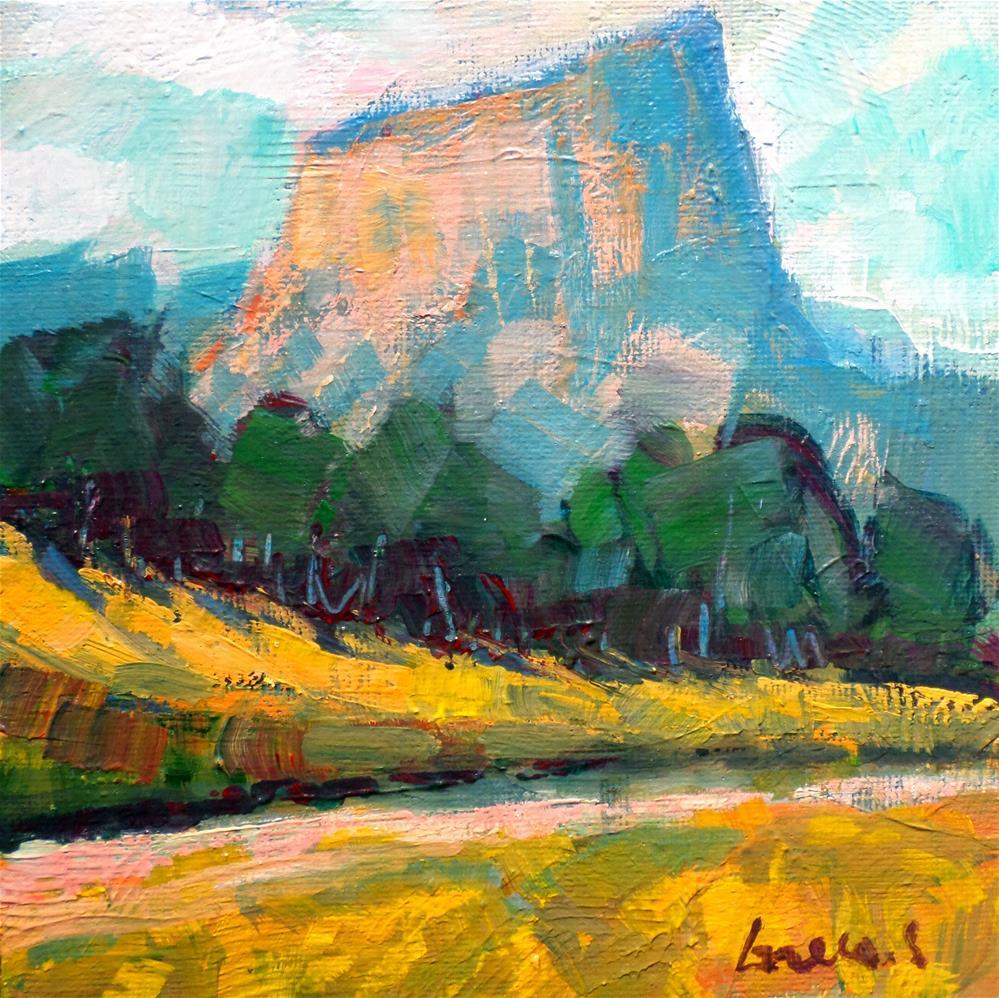 """Le Mont aiguille  french"" original fine art by salvatore greco"