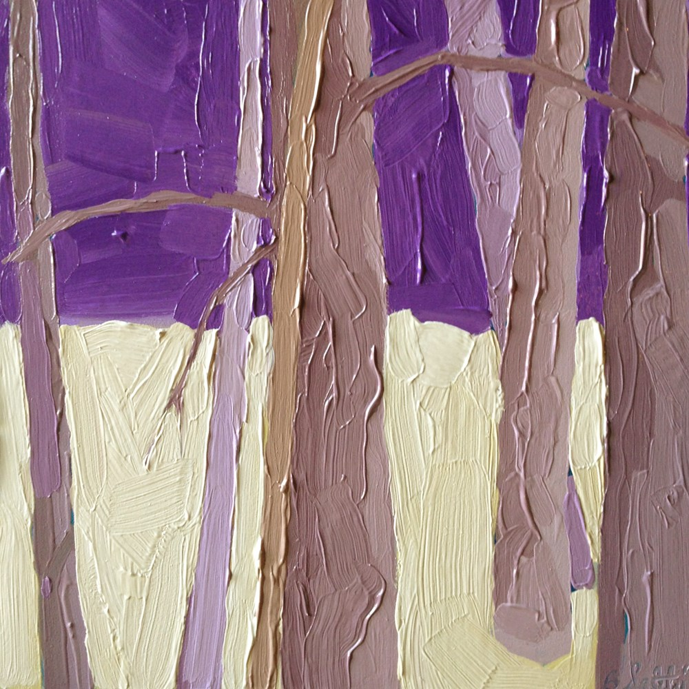 """trees without leaves II - variation 3"" original fine art by Barb Saletri"