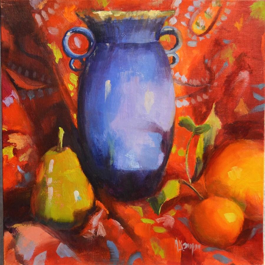 """""""Color Rules"""" original fine art by A.K. Simon"""