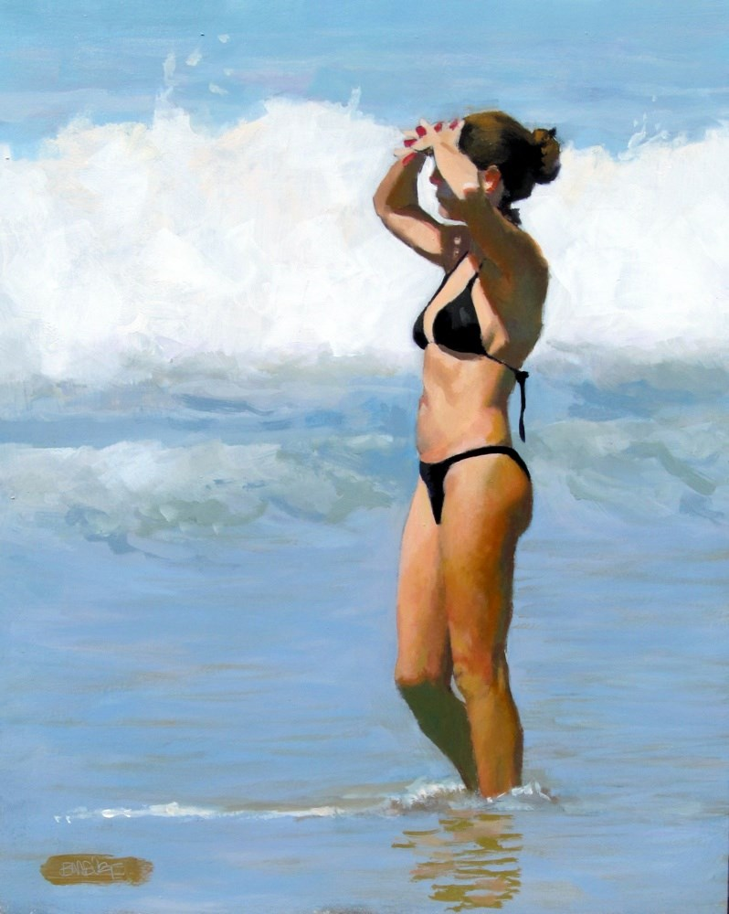 """Bikini In The Bright Sun"" original fine art by Brian Burt"