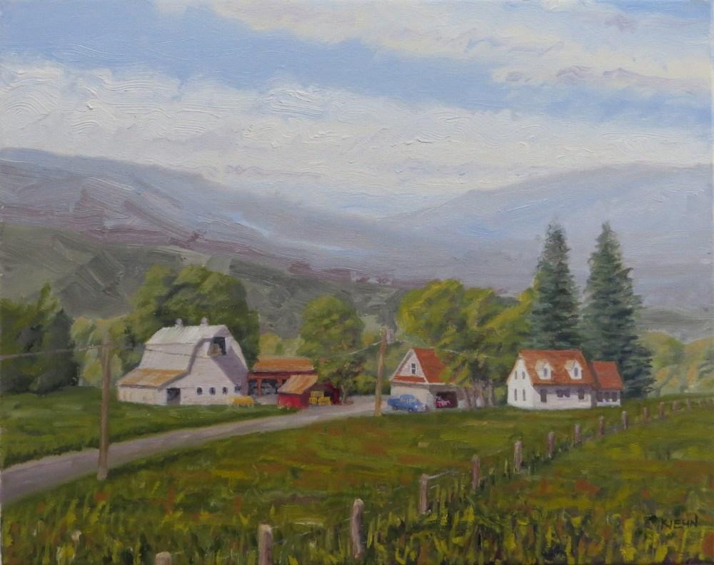 """""""Willamette Valley Farm"""" original fine art by Richard Kiehn"""