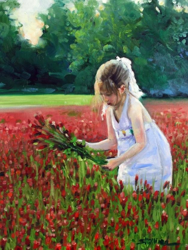 """""""Field of Plenty"""" original fine art by Sherrie Hilliard"""