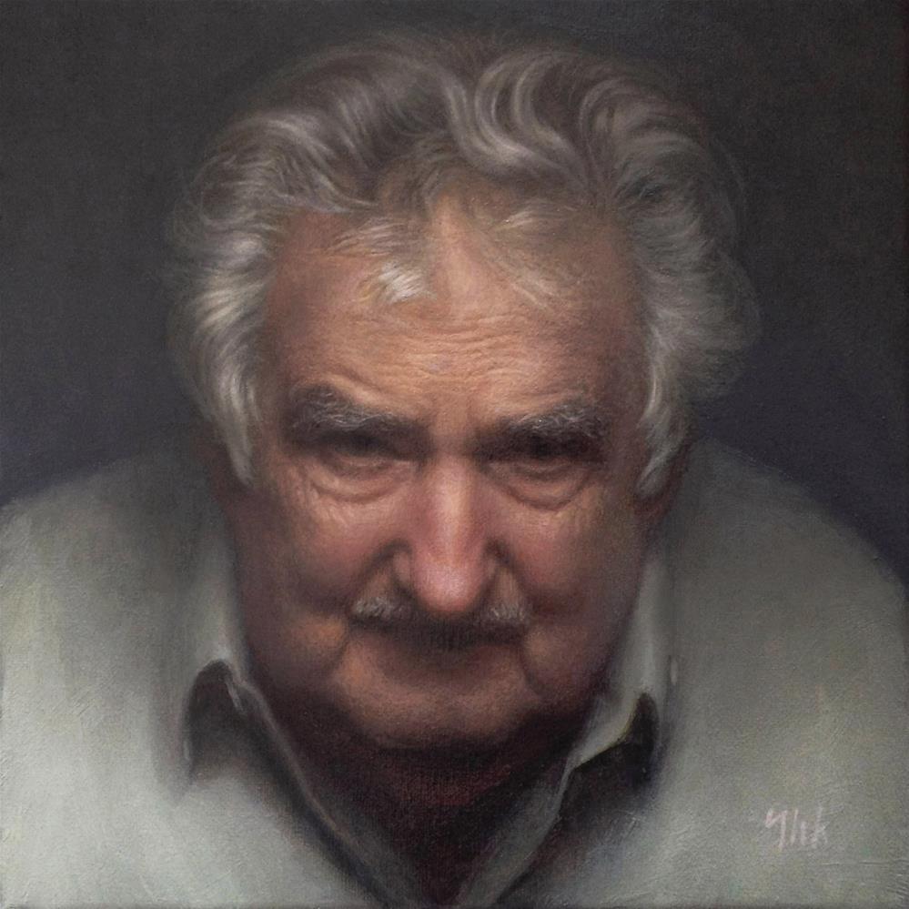 """Portrait"" original fine art by Yuehua He"